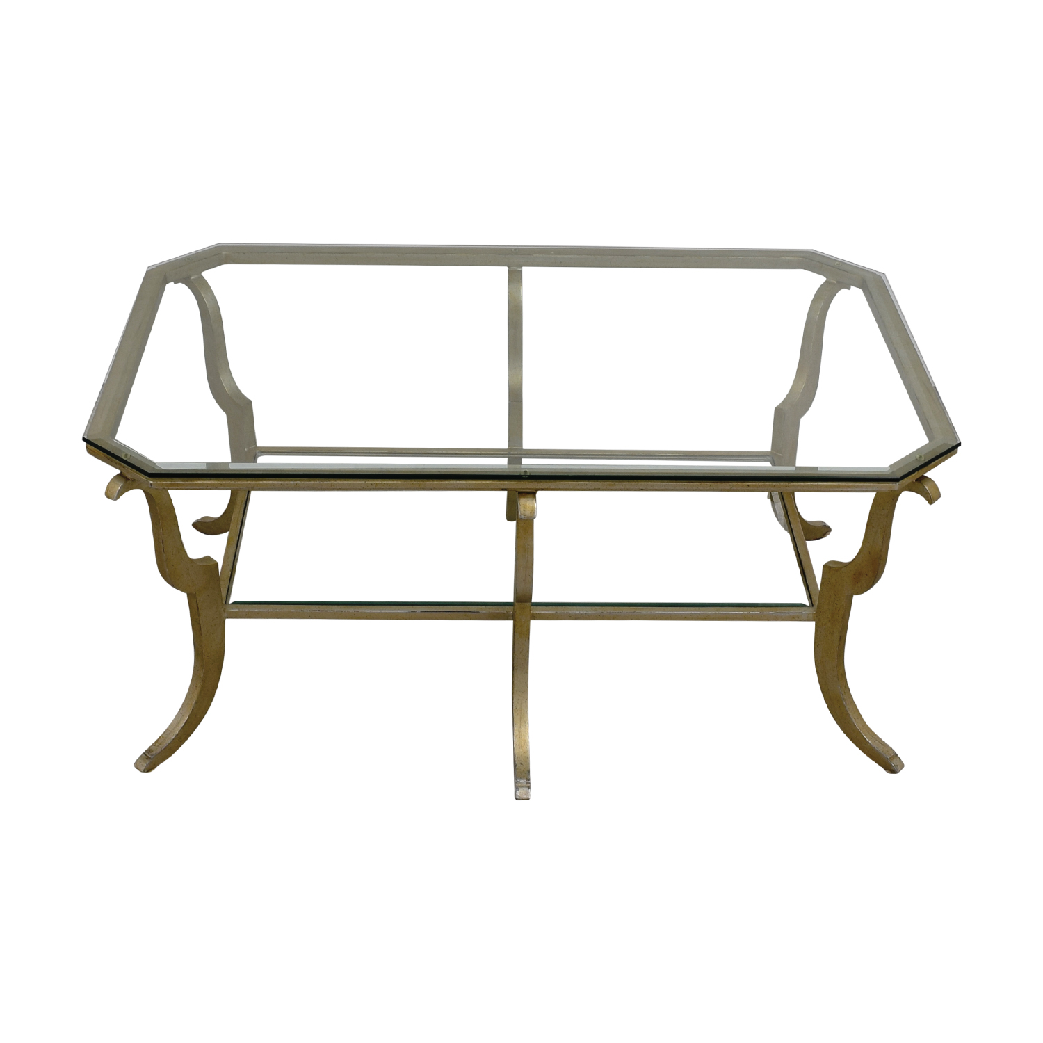 Glass and Brass Coffee Table dimensions