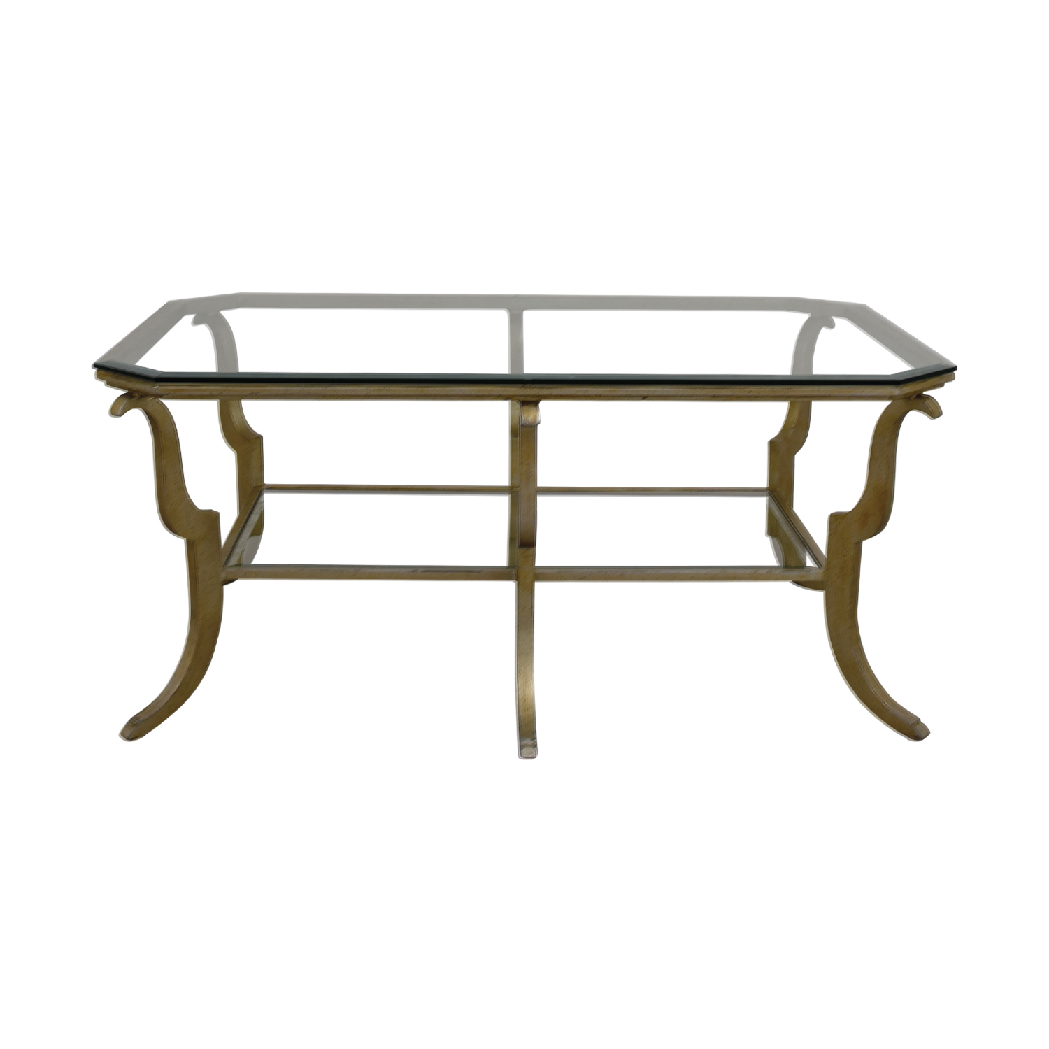 Glass and Brass Coffee Table on sale