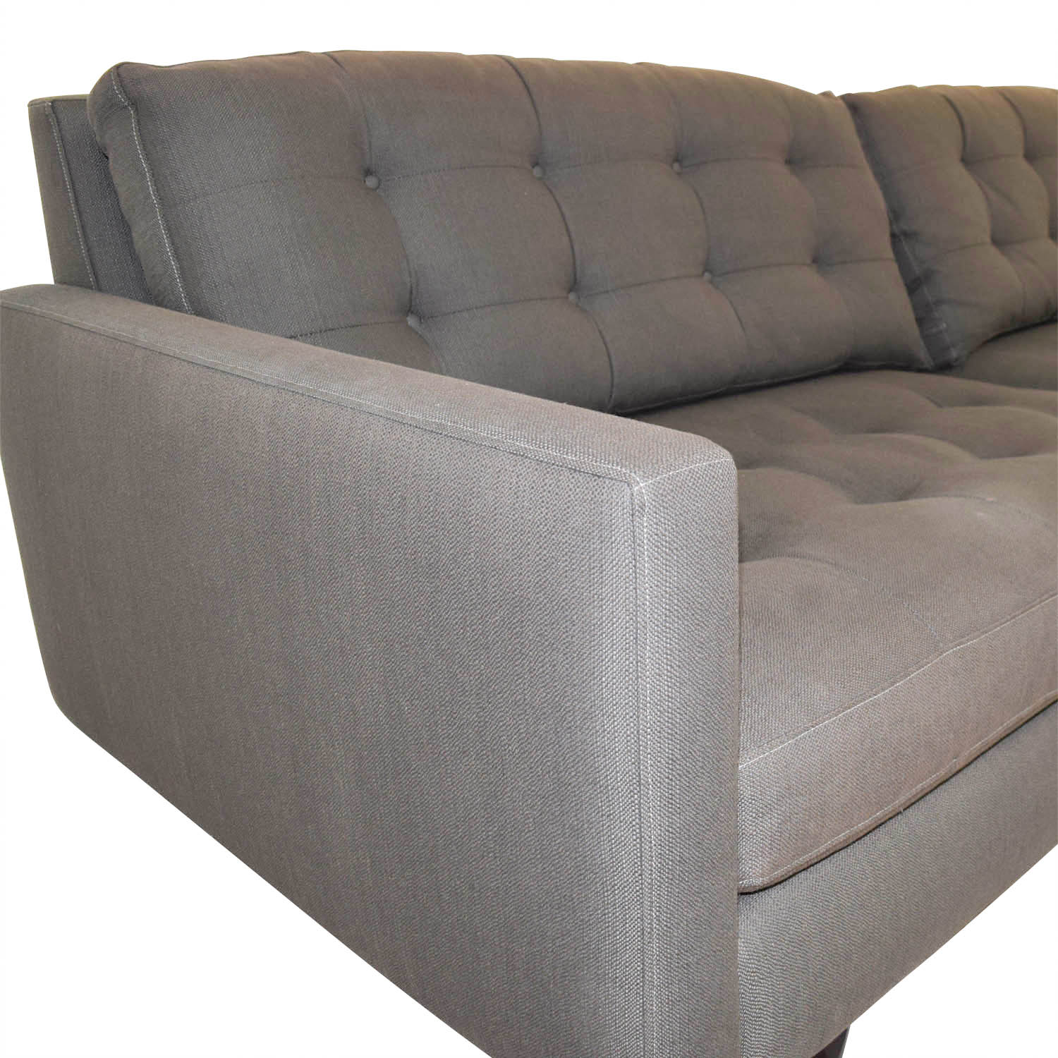 Strange 56 Off Crate Barrel Crate Barrel Mid Century Petrie Grey Tufted Sofa Sofas Pabps2019 Chair Design Images Pabps2019Com