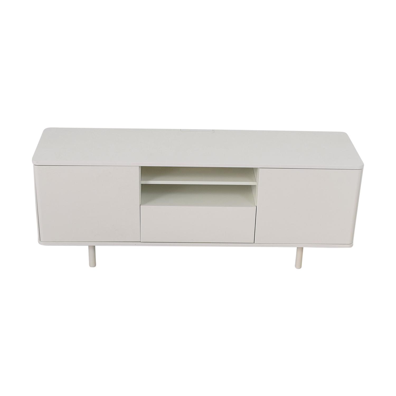 shop IKEA Mostorp High Gloss White Media Unit IKEA Storage