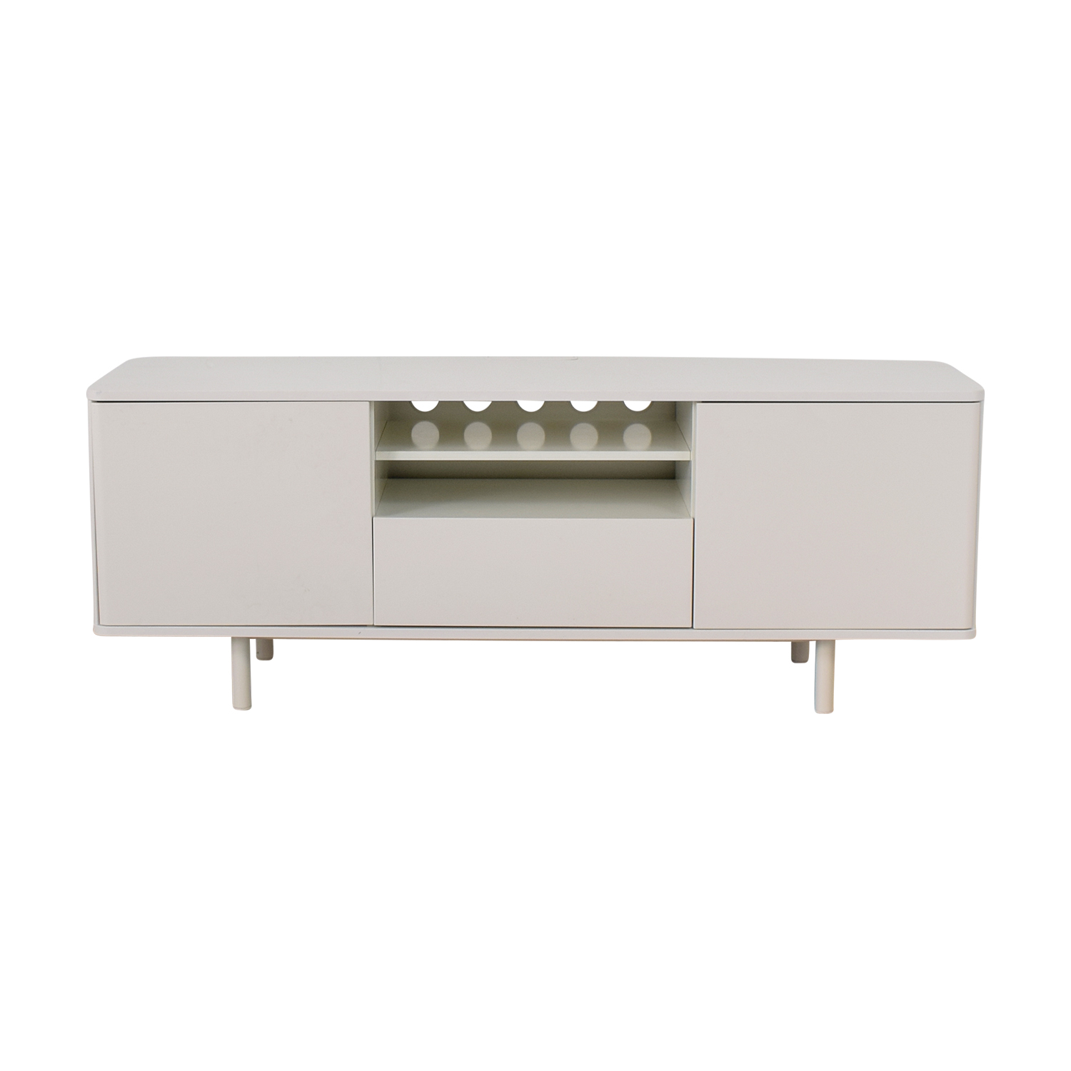 Ikea Mostorp High Gloss White Media Unit