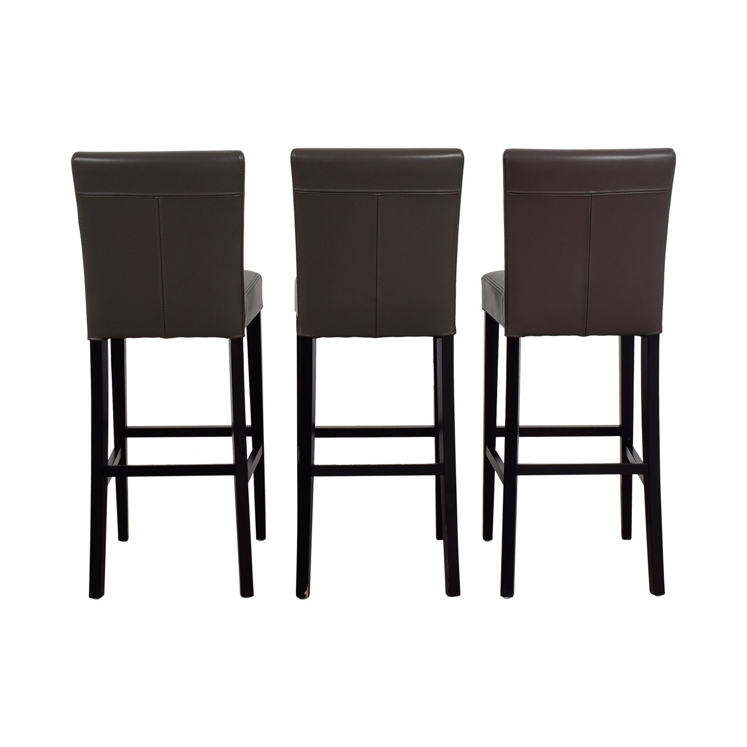 Crate & Barrel Crate & Barrel Lowe Smoke Leather Bar Stools Sofas