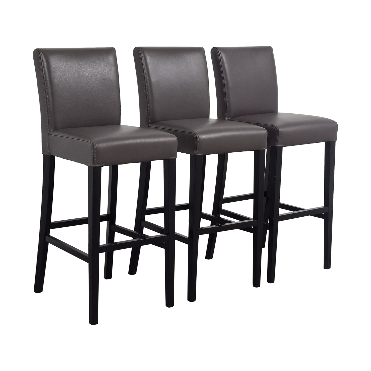 Admirable 89 Off Crate Barrel Crate Barrel Lowe Smoke Leather Bar Stools Chairs Inzonedesignstudio Interior Chair Design Inzonedesignstudiocom