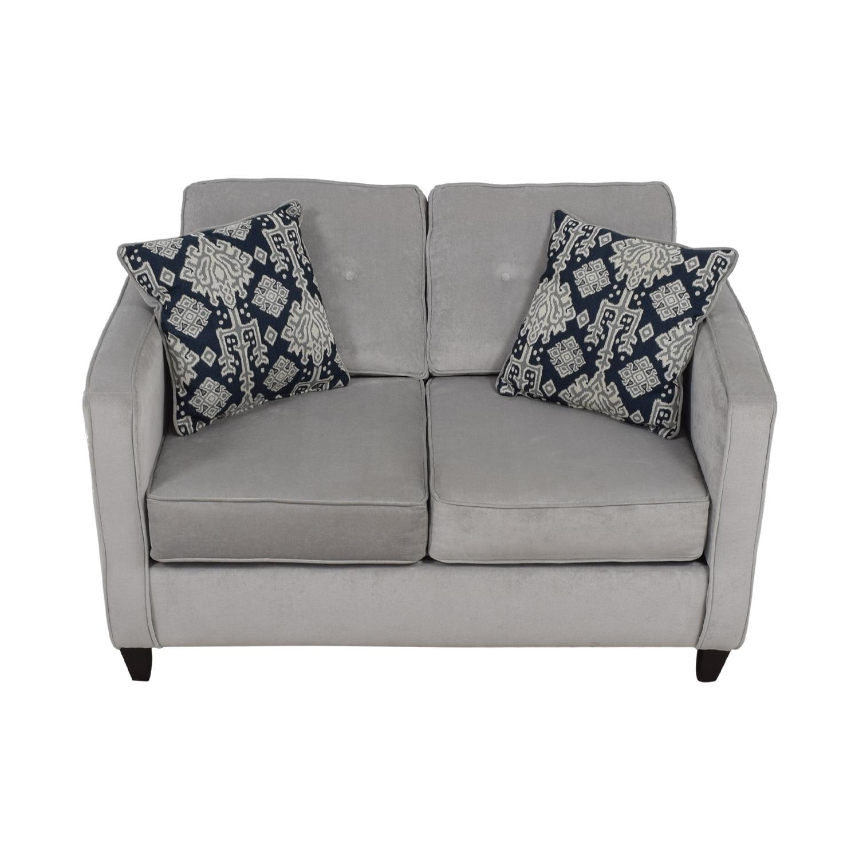 Mercury Row Mercury Row Serta Grey Upholstery Cypress Loveseat nj