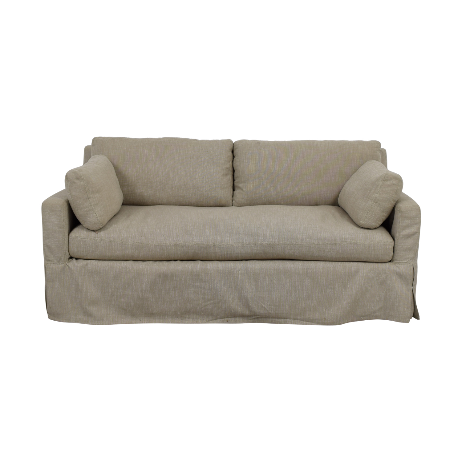 Restoration Hardware Belgian Beige Track Arm Slipcovered Sofa / Loveseats