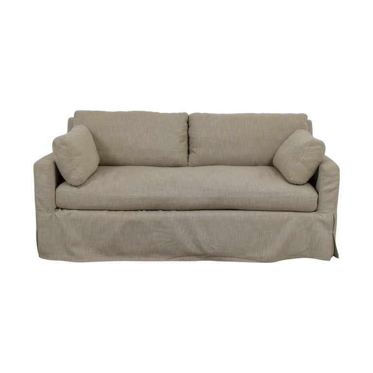 Restoration Hardware Restoration Hardware Belgian Beige Track Arm Slipcovered Sofa coupon