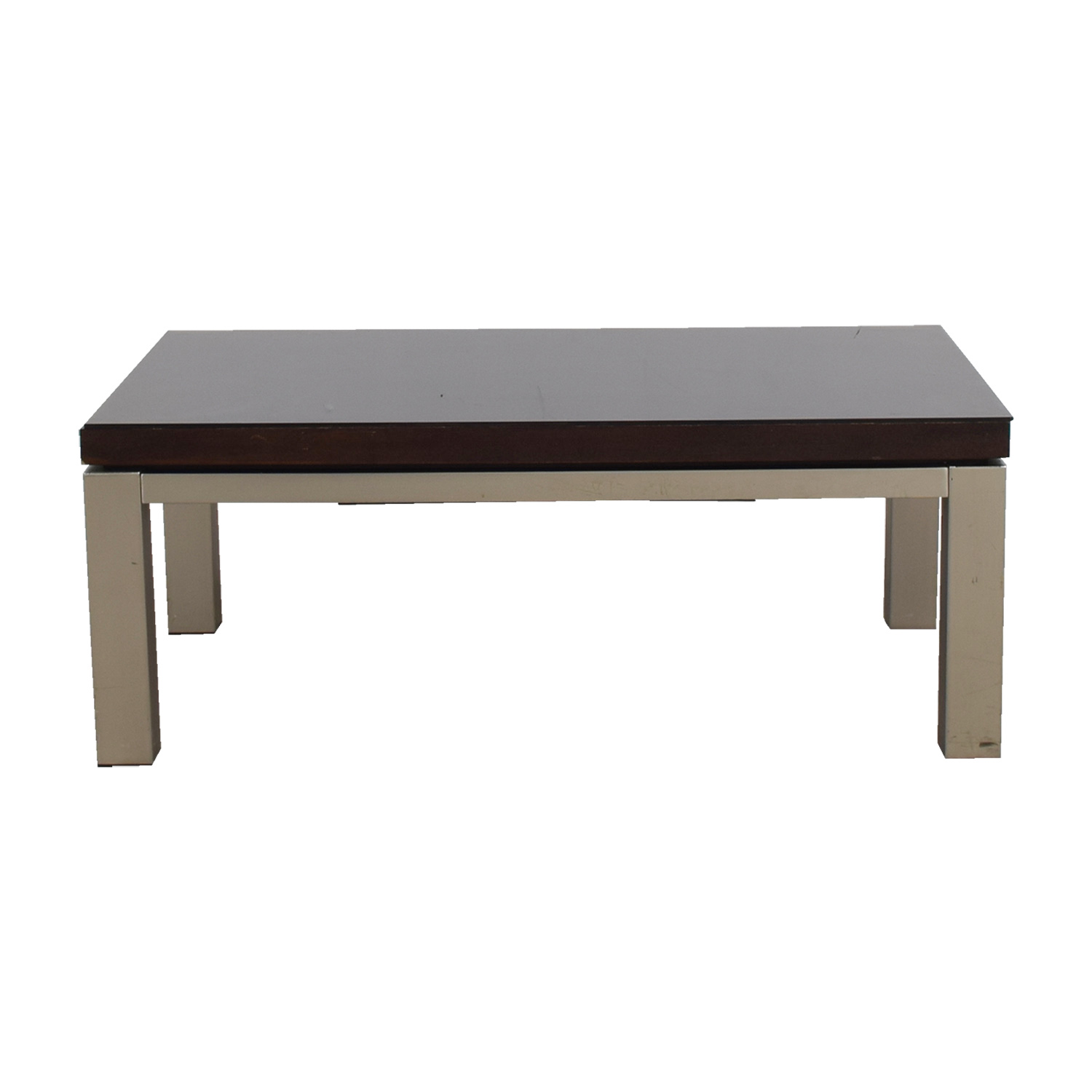 shop Wood and Chrome Rectangular Coffee Table Coffee Tables