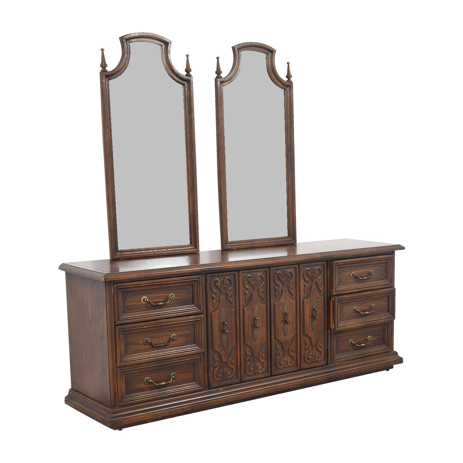 American of Martinsville Double Dresser with Mirrors sale