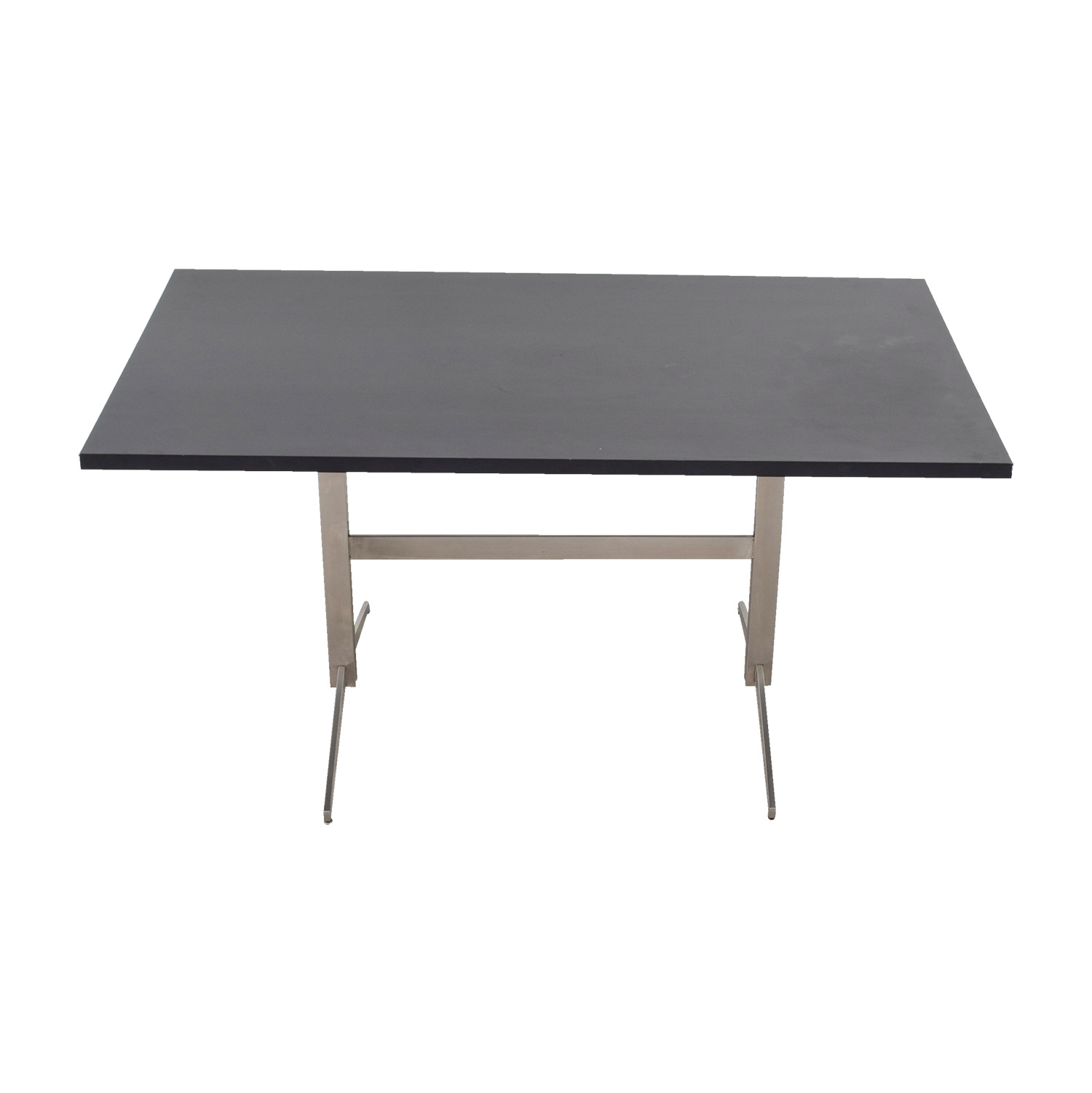 buy Room & Board Black and Chrome Dining Table Room & Board