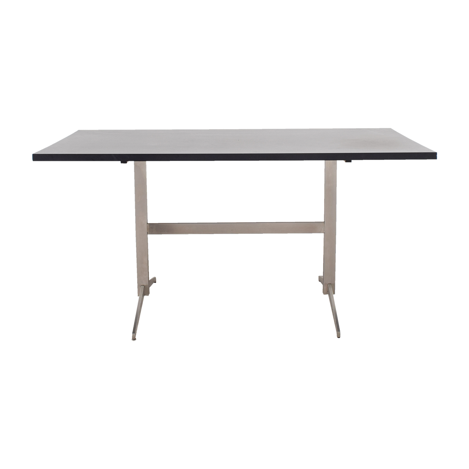 Room & Board Room & Board Black and Chrome Dining Table discount