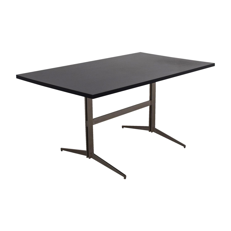 Black Amp Chrome Table ~ Off room board black and chrome