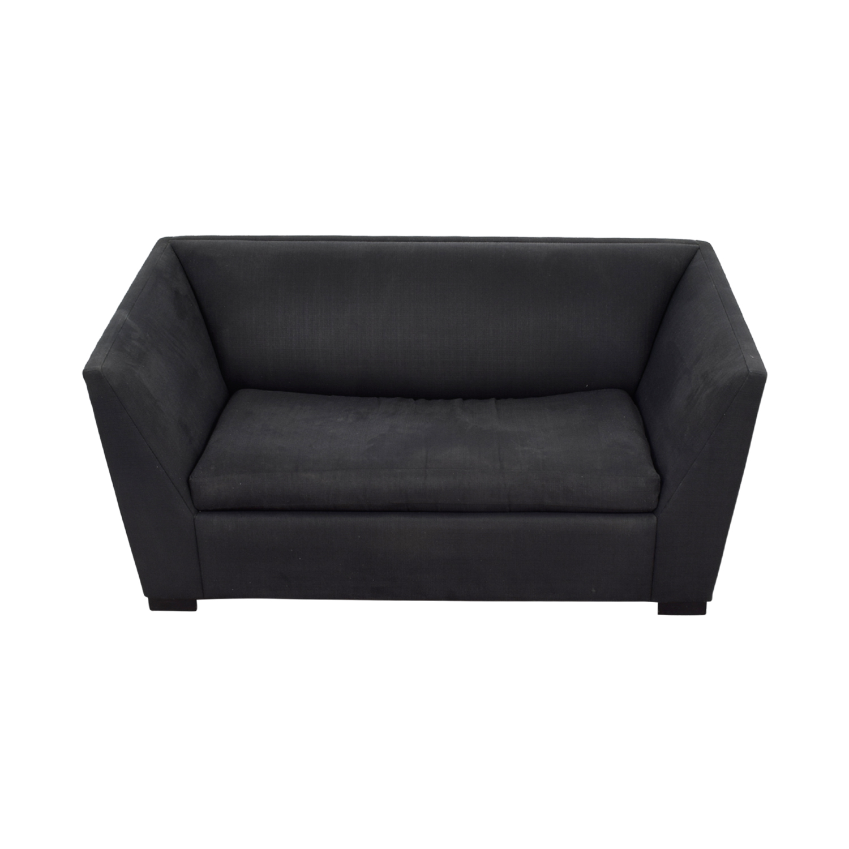 CB2 CB2 Julius Black Twin Sleeper Sofa Sofas