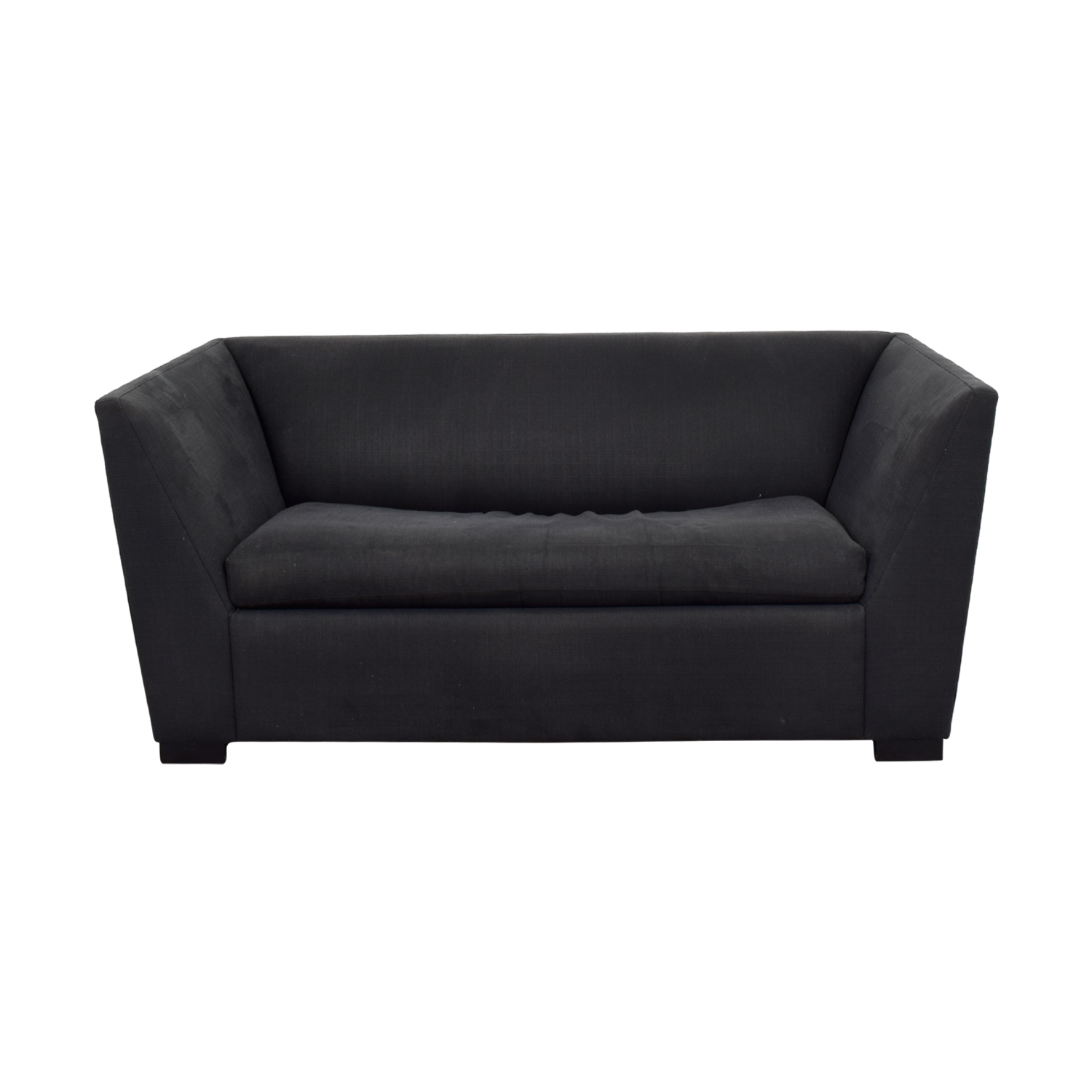 Good Shop CB2 Julius Black Twin Sleeper Sofa CB2 Loveseats