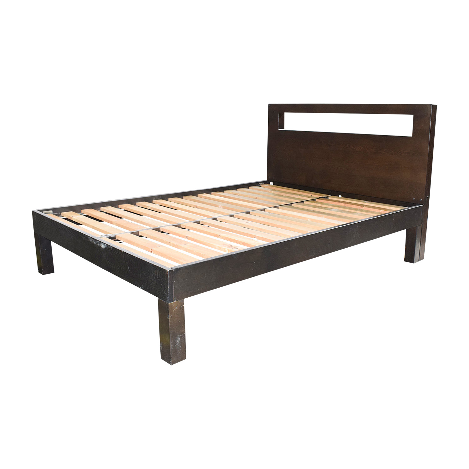 48% OFF - West Elm West Elm Wood Full Bed Frame / Beds