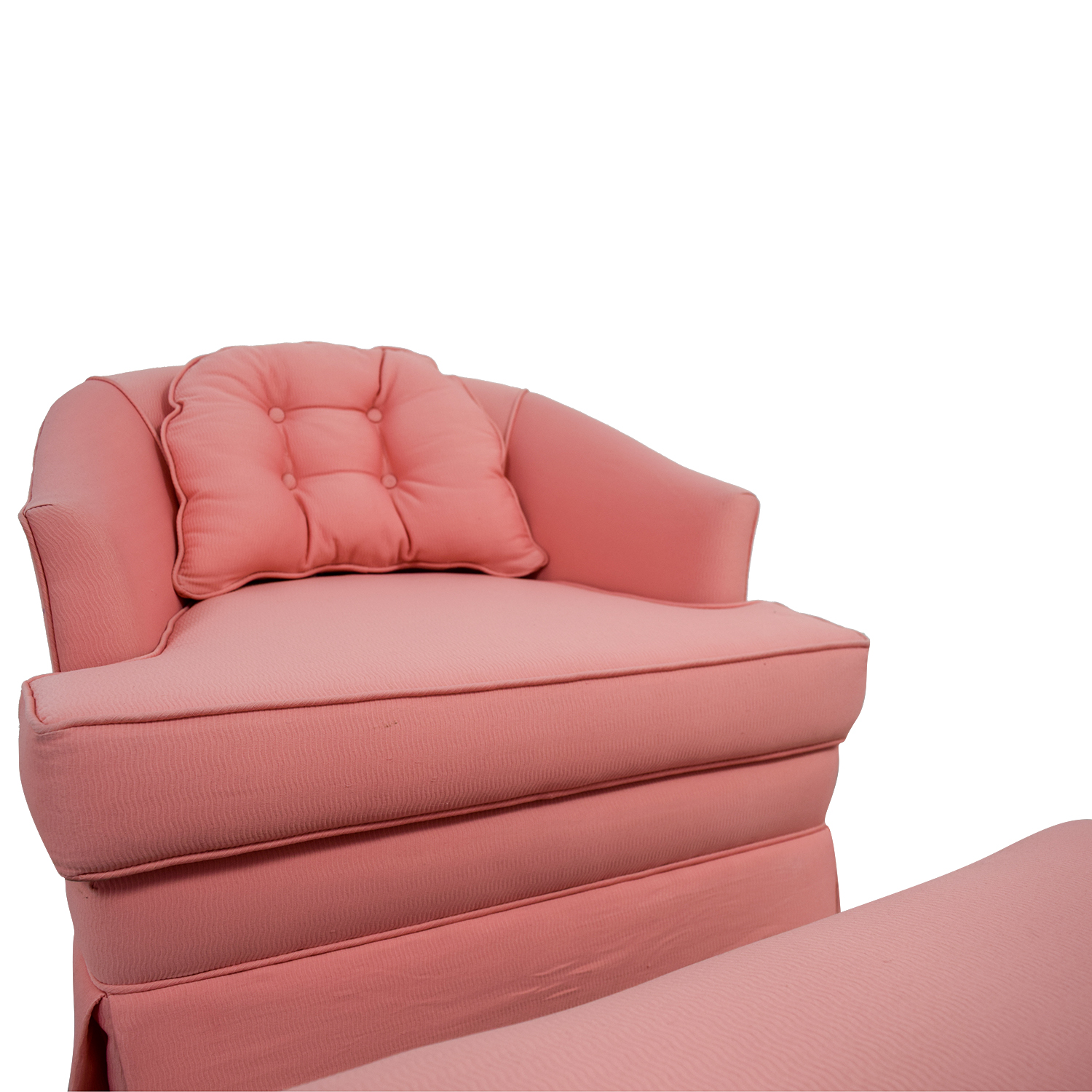 83 Off Pink Accent Chair With Ottoman Chairs