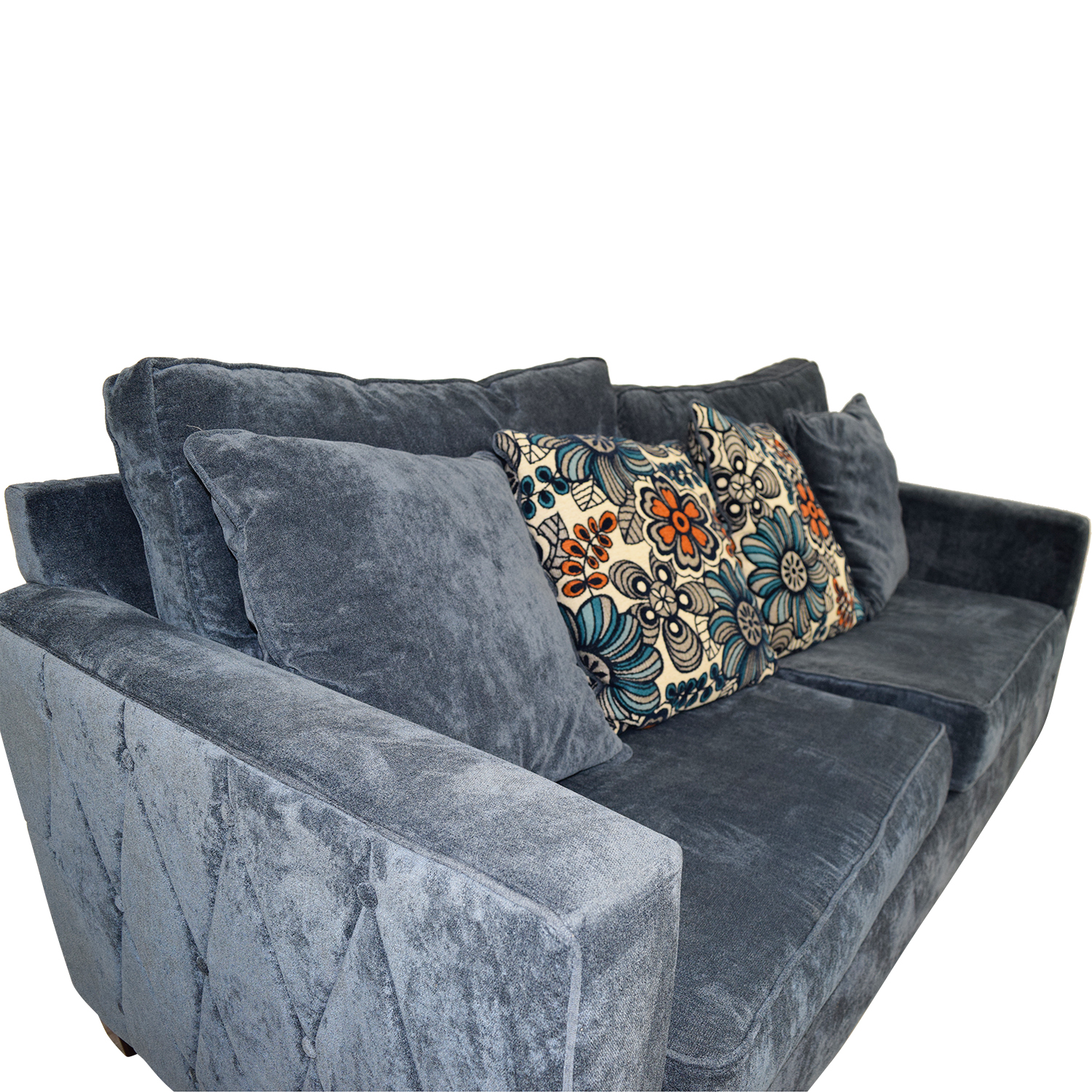 43 Off Bob S Furniture Bob S Furniture Melanie Navy Nailhead Sofa Sofas