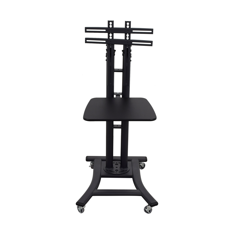 shop Displays2Go Displays2Go Black Rolling Display Stand online