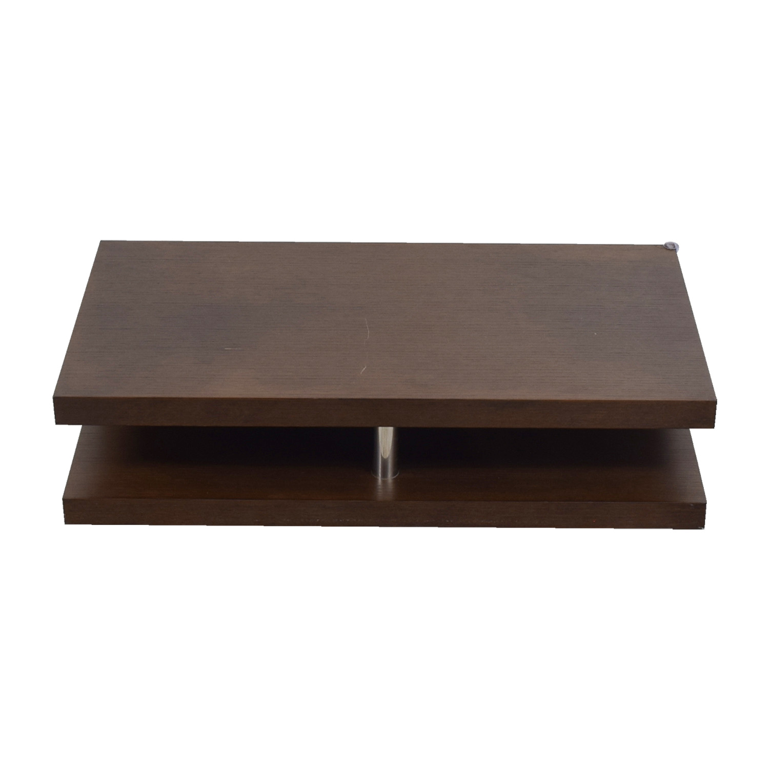 Dual Level Brown Coffee Table for sale