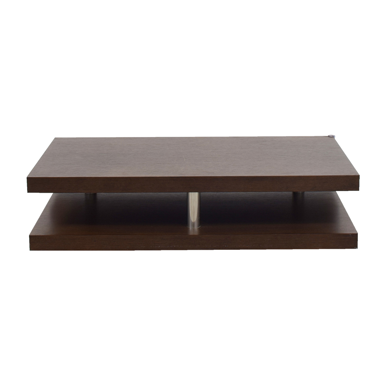 Dual Level Brown Coffee Table Coffee Tables