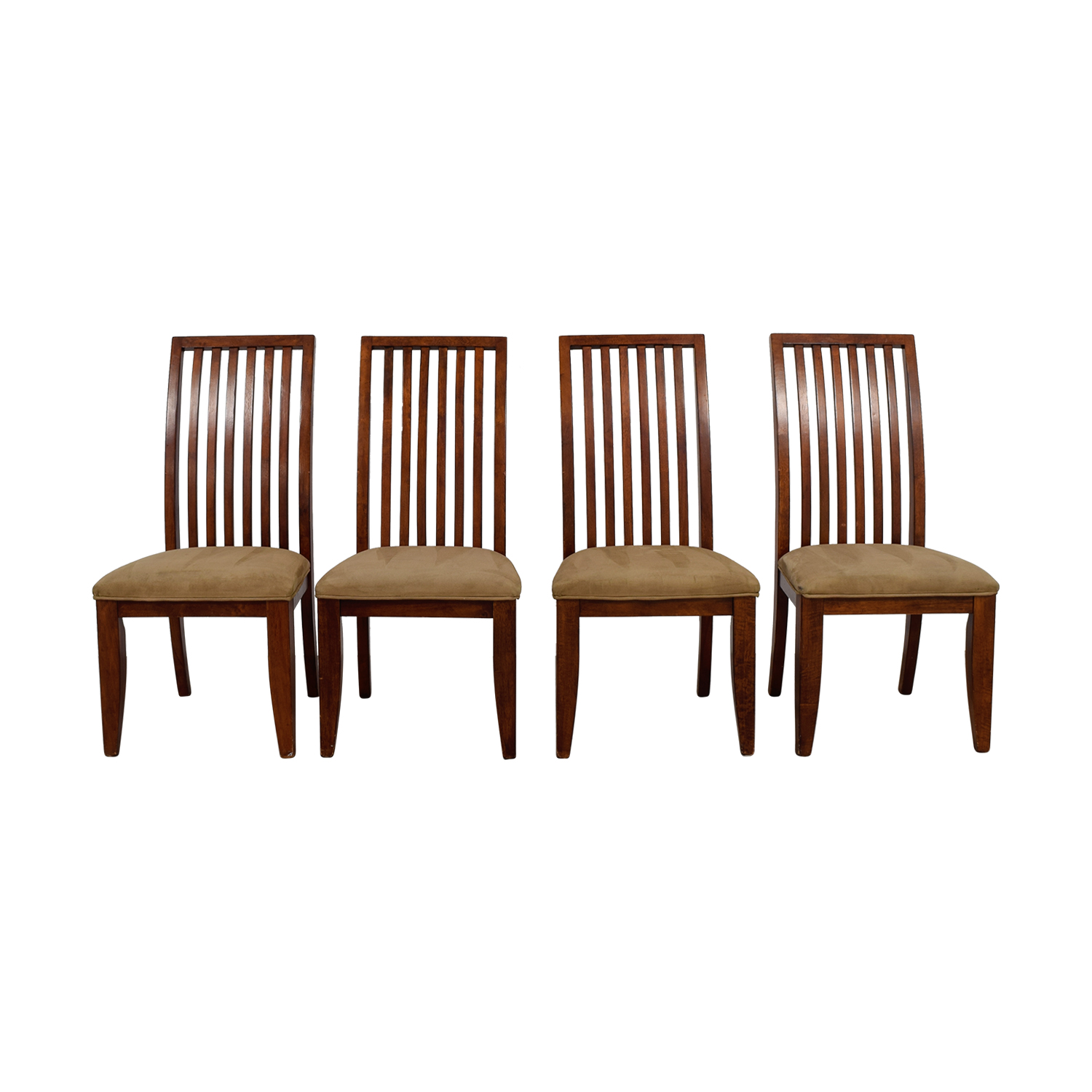 Cherry Upholstered Dining Room Chairs