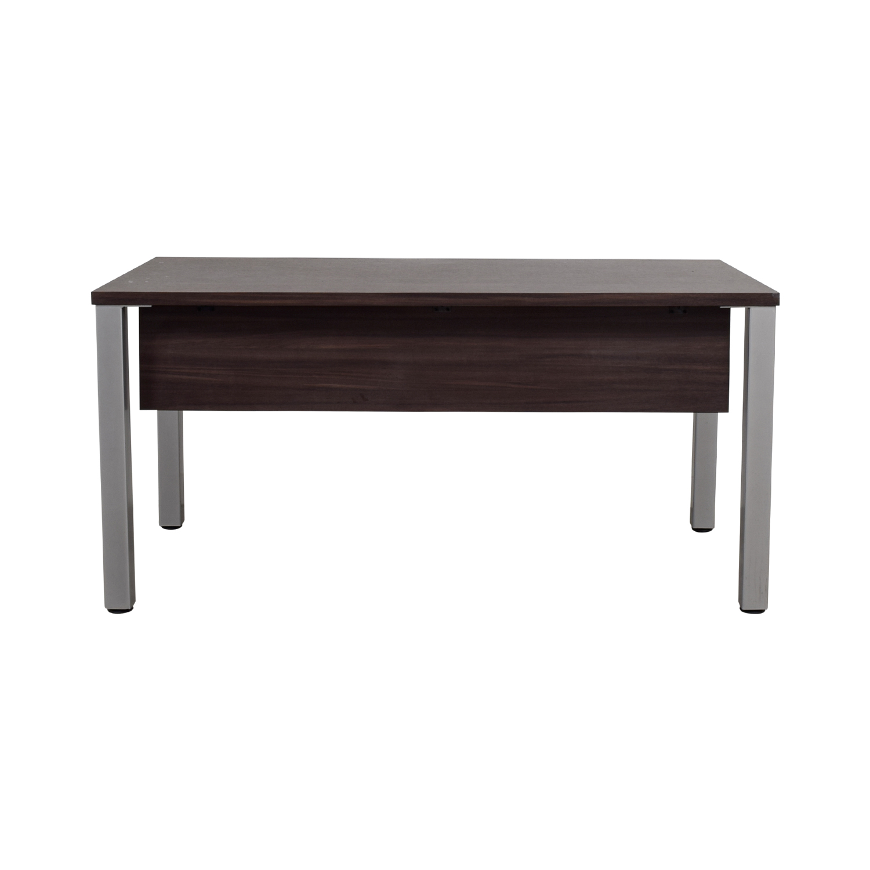 chrome office desk. Wood And Chrome Office Desk R