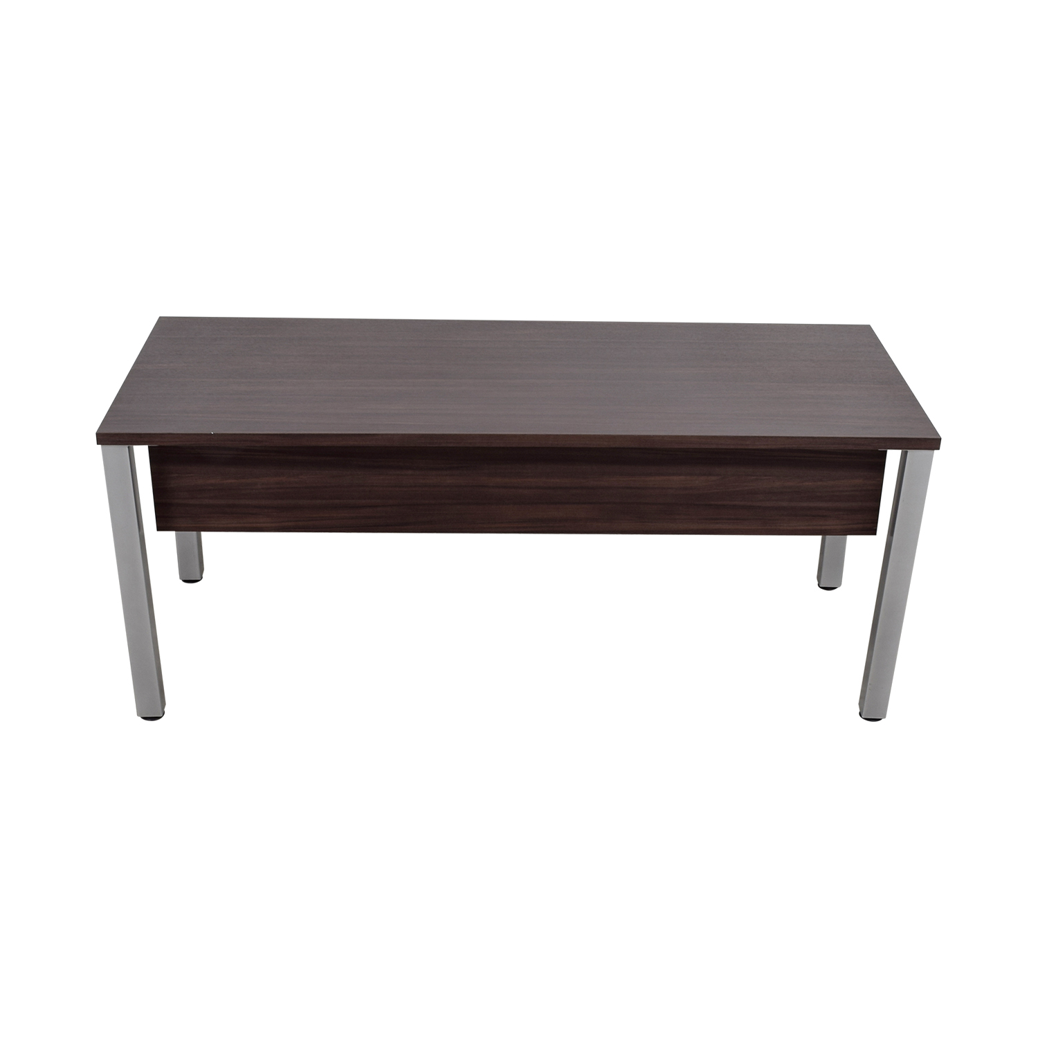 shop Mahogany and Chrome Office Desk Home Office Desks