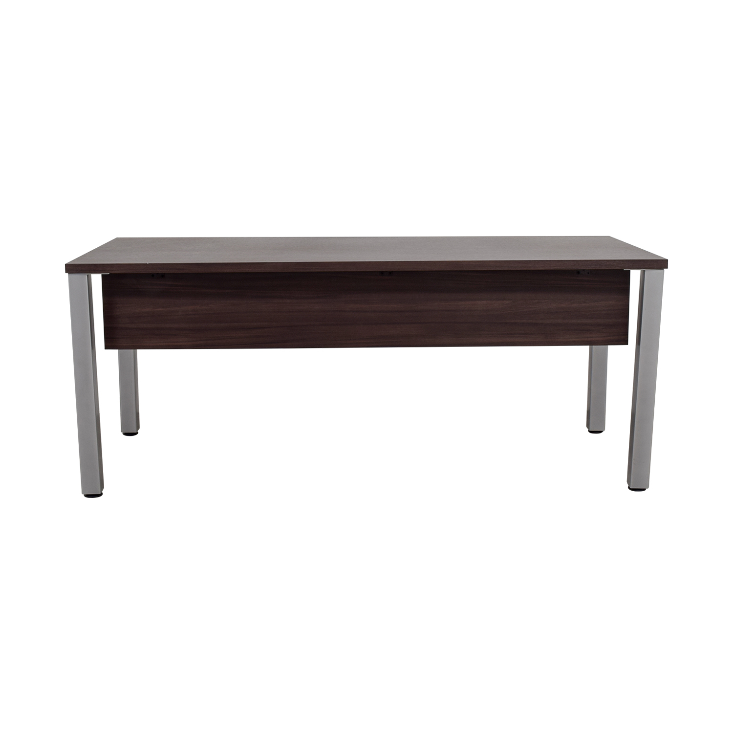 Mahogany and Chrome Office Desk coupon