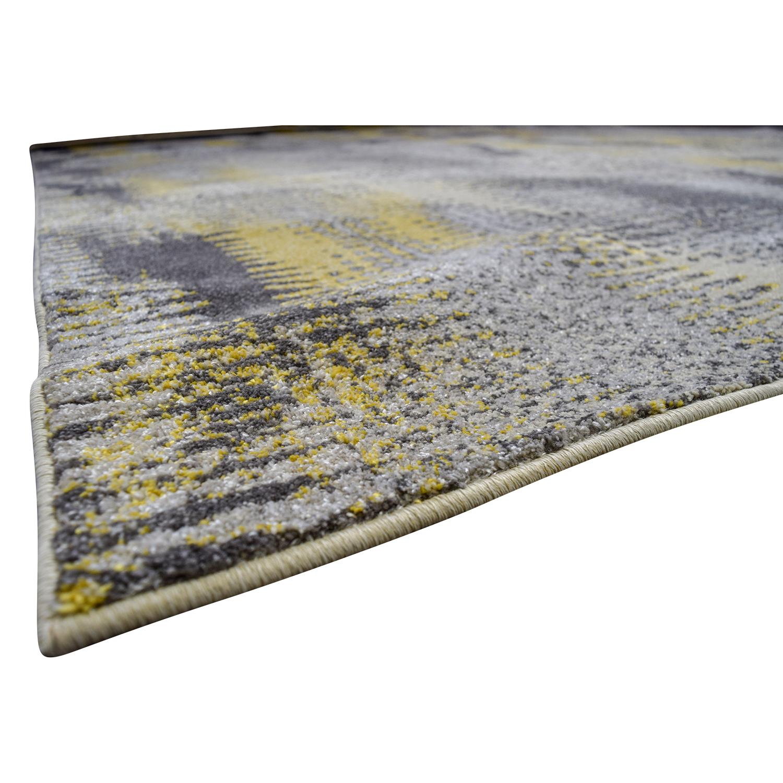 Daylan Rug Co Daylan Rug Co Yellow and Grey Rug on sale