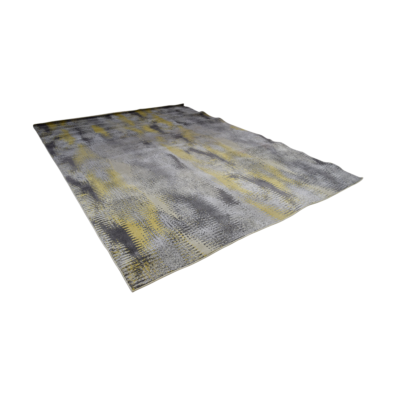 Daylan Rug Co Yellow and Grey Rug Daylan Rug Co