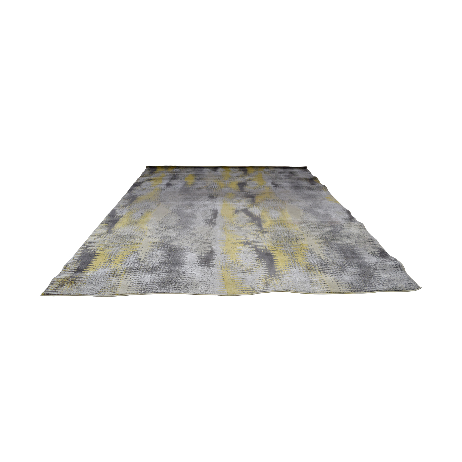 Daylan Rug Co Yellow and Grey Rug / Sofas