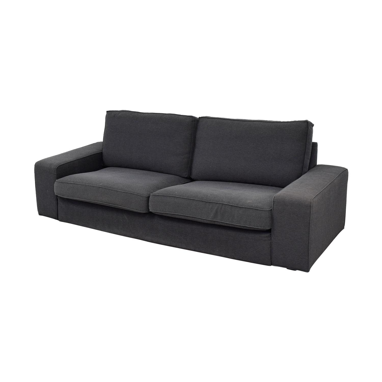 Bassett Furniture Bassett Grey Linen Two-Cushion