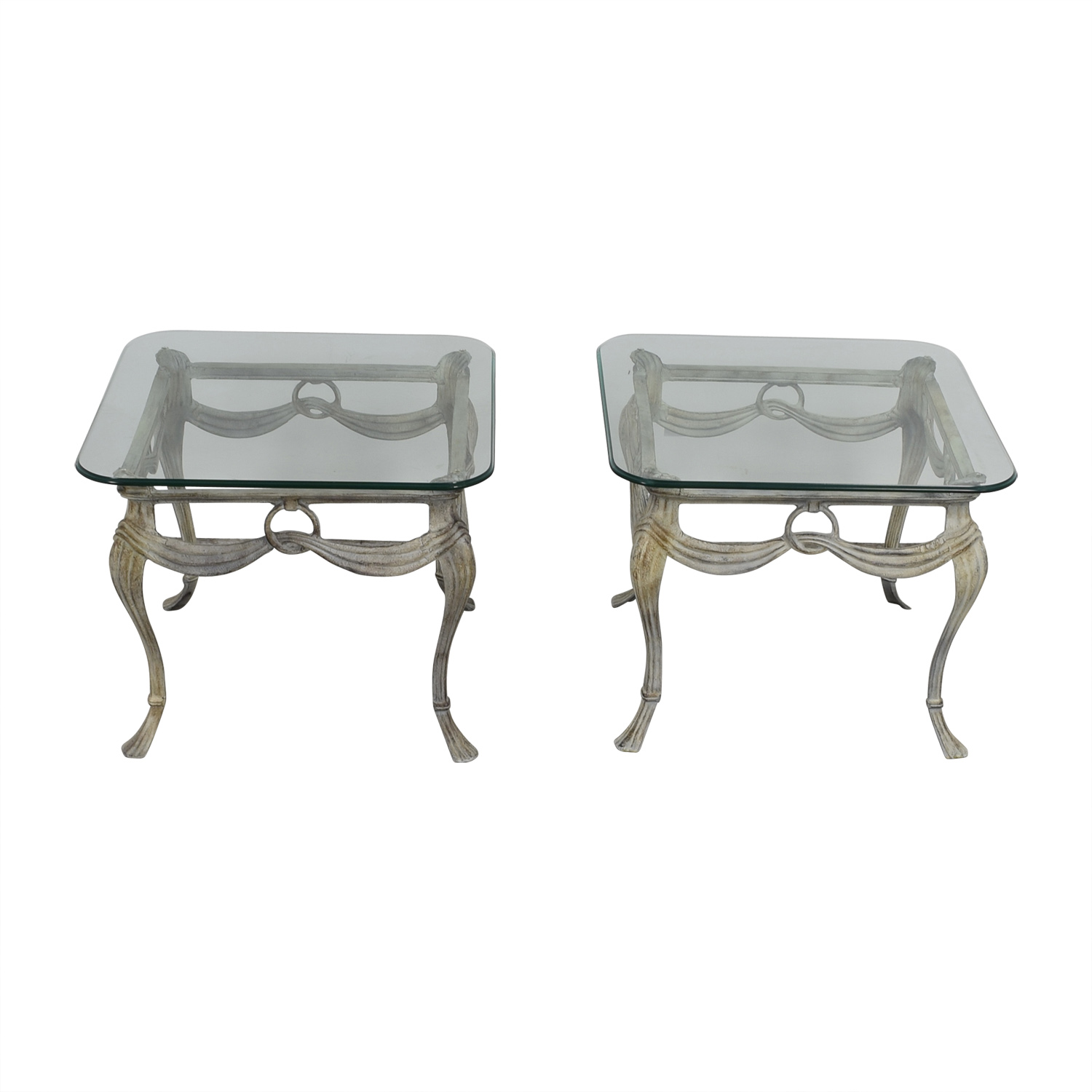 Glass and Metal End Tables Tables