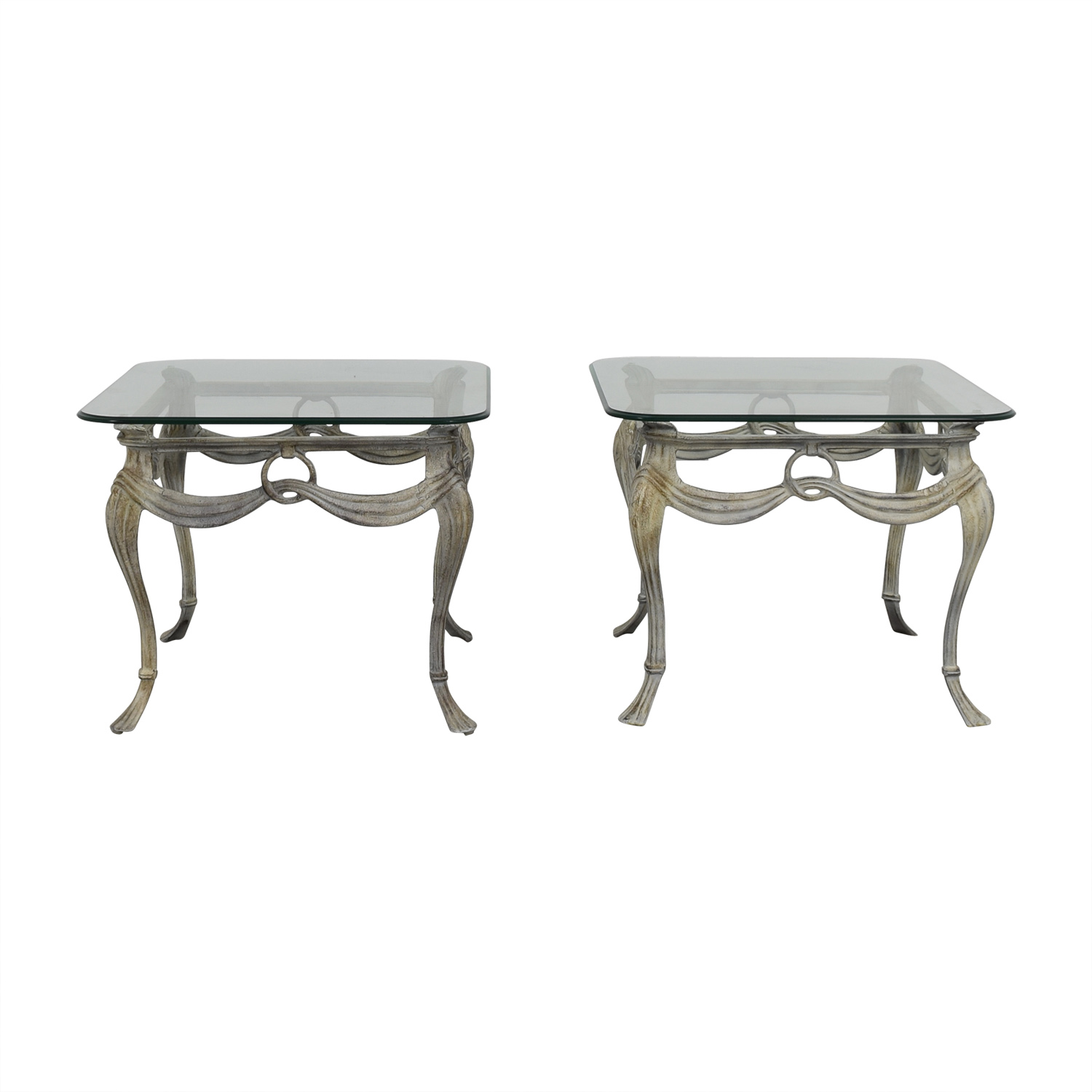 buy Glass and Metal End Tables End Tables