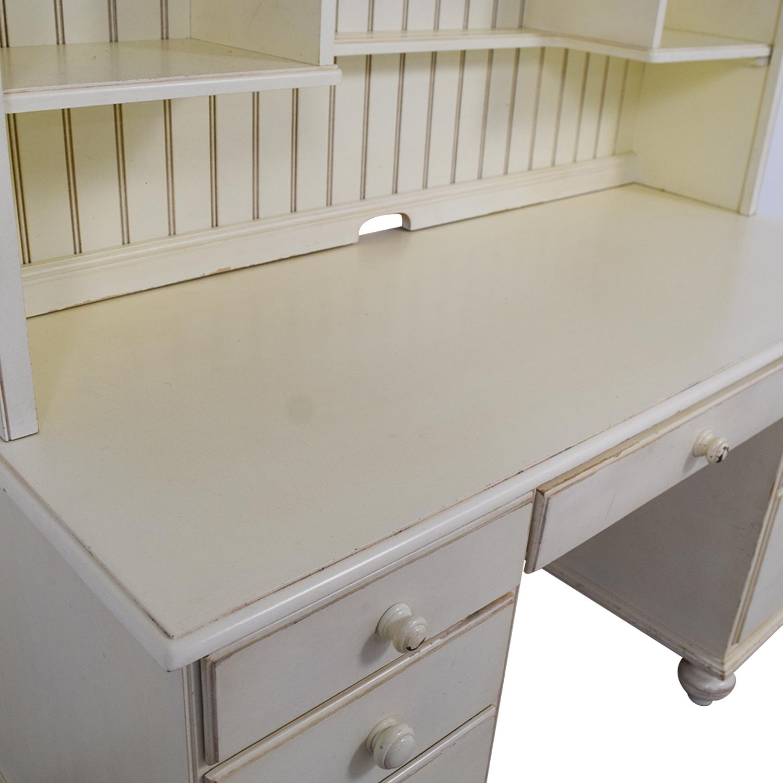 75 Off Ethan Allen Ethan Allen White Wood Desk With