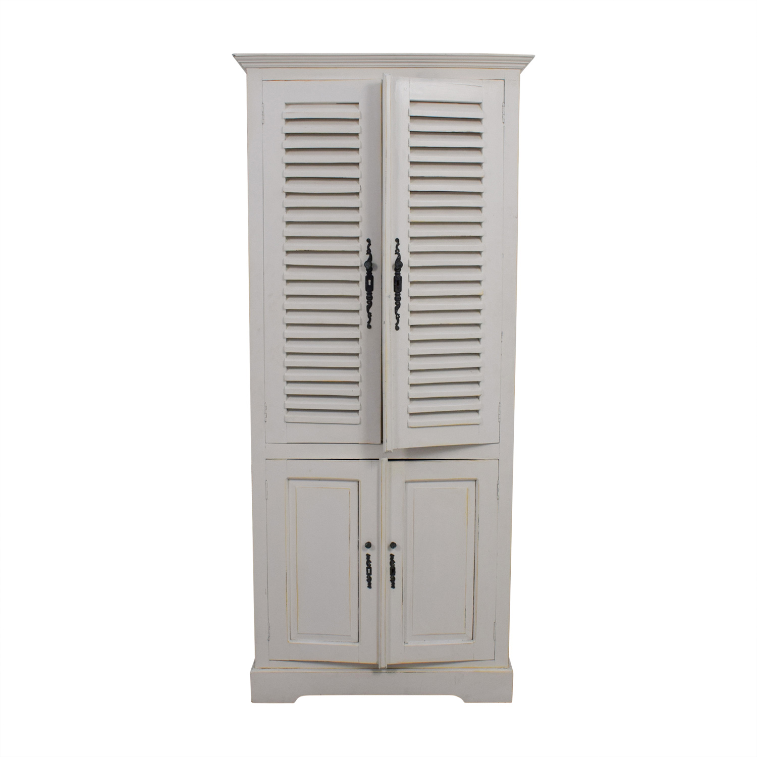 Nadeau Nadeau White Armoire with Keys second hand