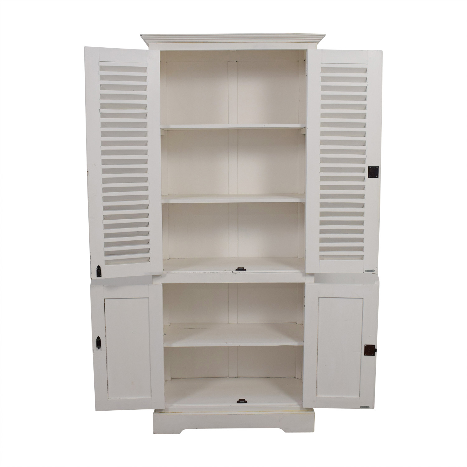 buy Nadeau White Armoire with Keys Nadeau Wardrobes & Armoires