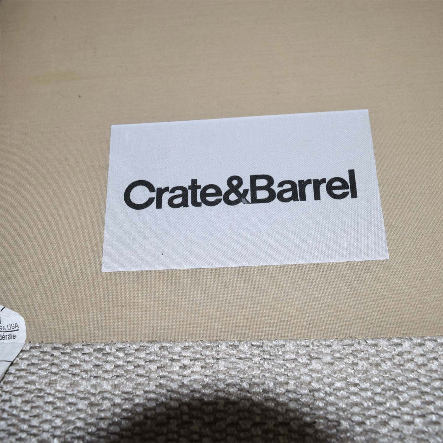 Crate & Barrel Crate & Barrel Lounge II Cement Grey Two Cushion Sofa dimensions