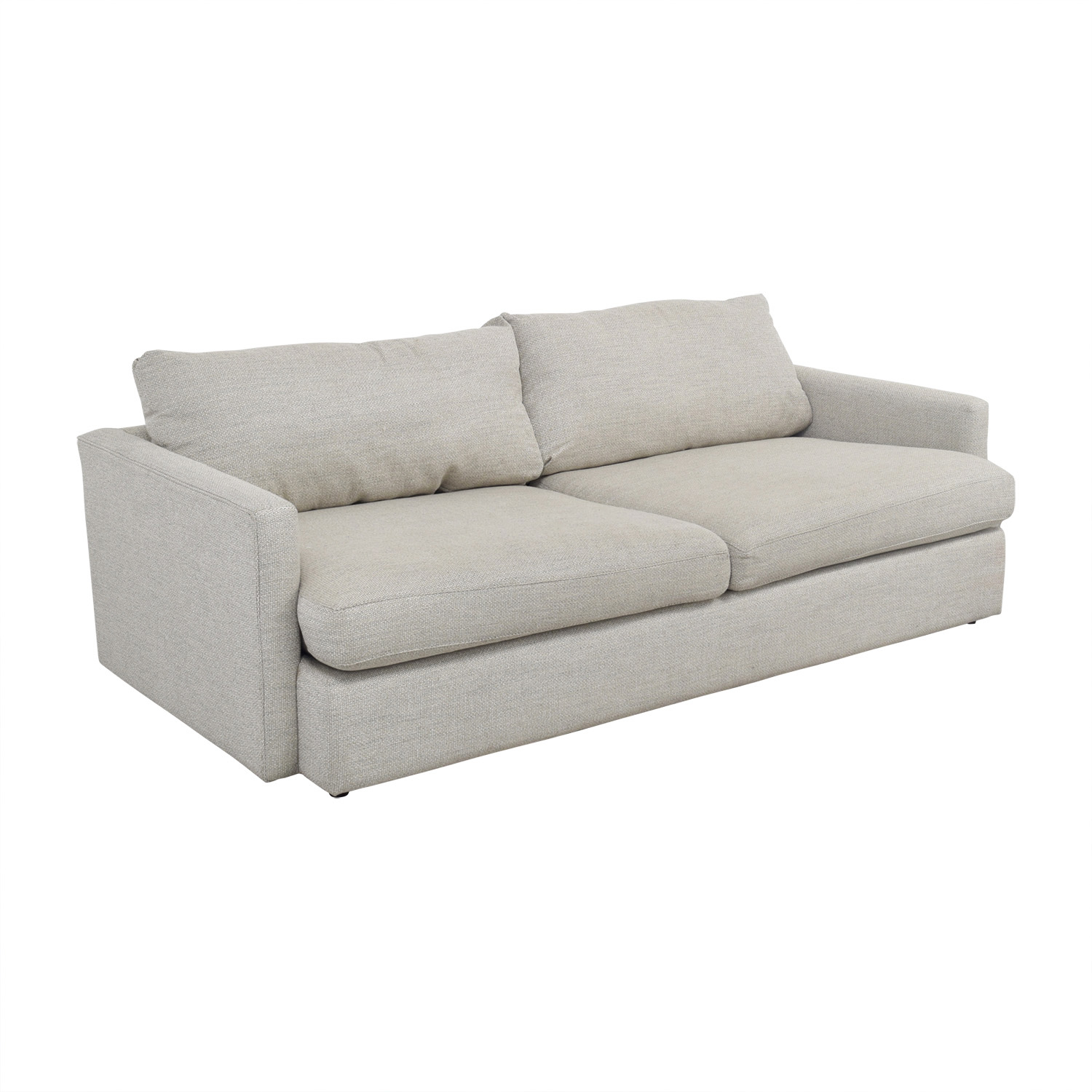 Crate & Barrel Crate & Barrel Lounge II Cement Grey Two Cushion Sofa used