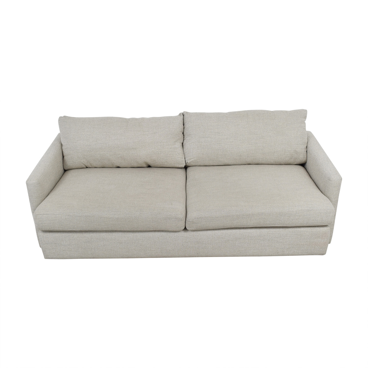 Crate & Barrel Crate & Barrel Lounge II Cement Grey Two Cushion Sofa discount