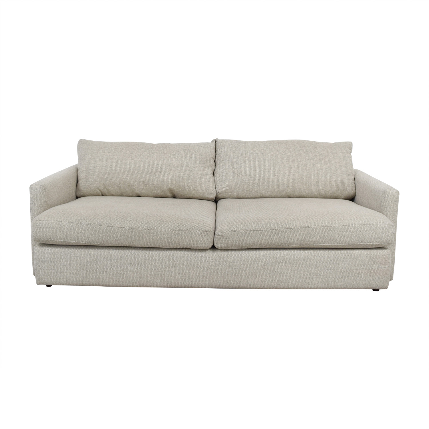 Crate & Barrel Crate & Barrel Lounge II Cement Grey Two Cushion Sofa coupon