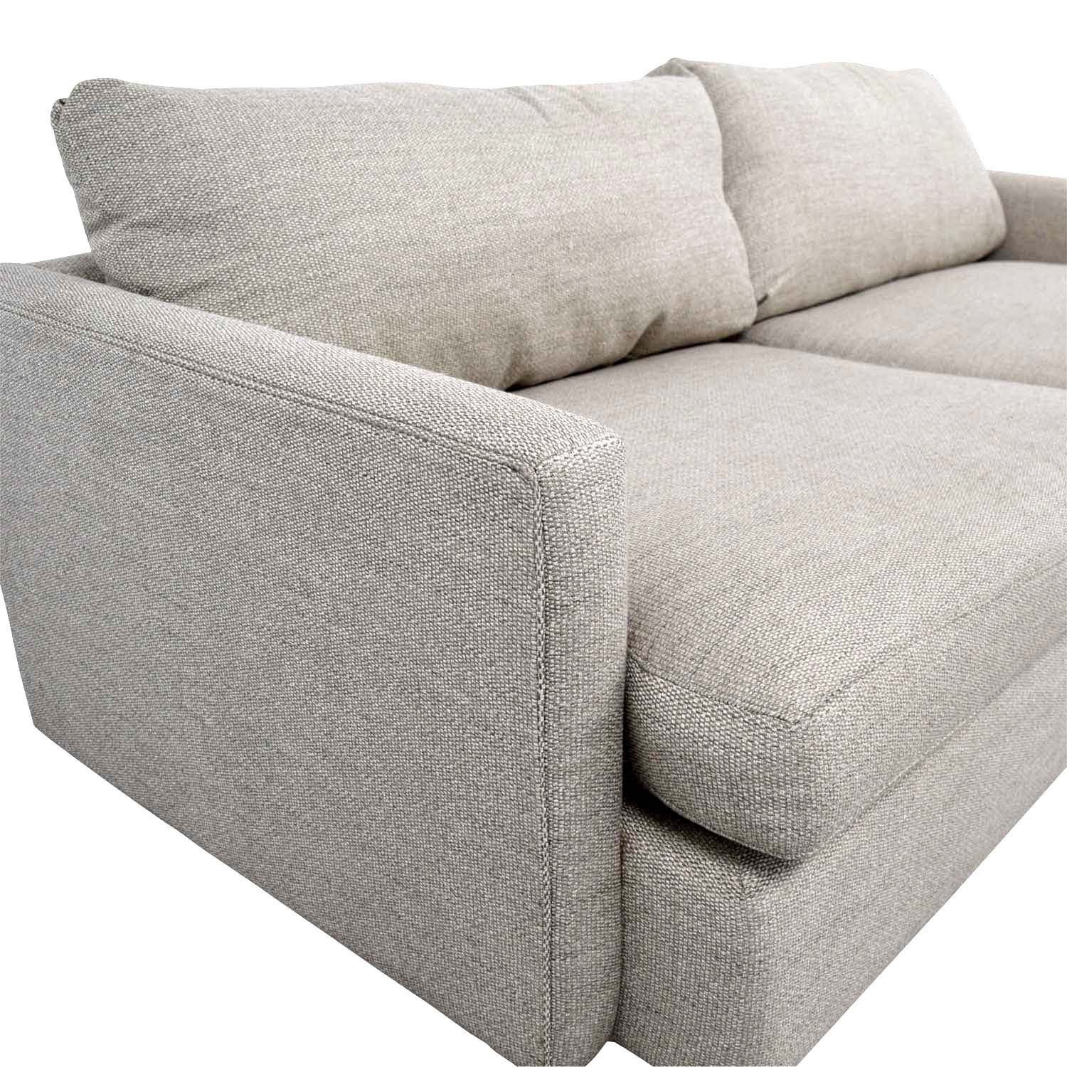 49% OFF - Crate & Barrel Crate & Barrel Lounge II Cement Grey Two Cushion  Sofa / Sofas