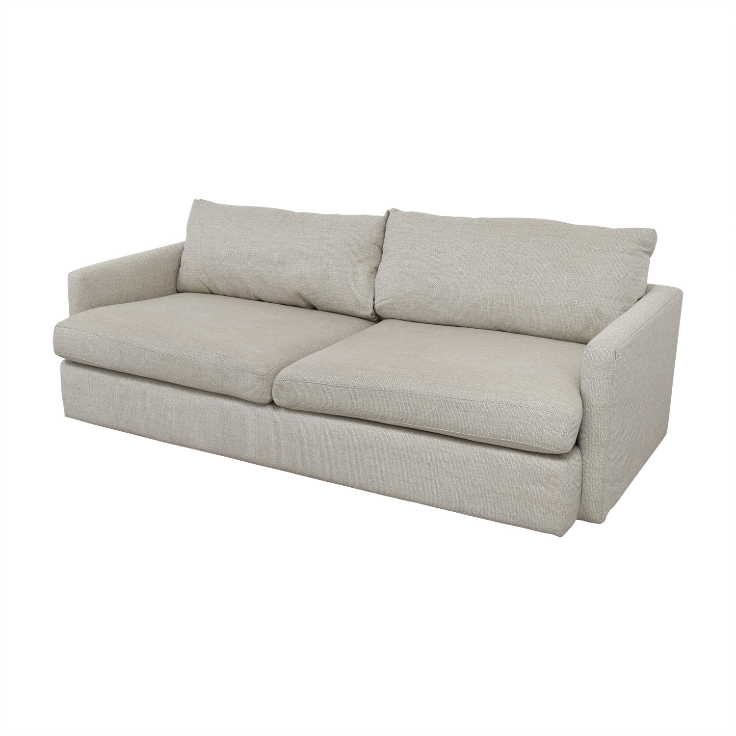 Crate & Barrel Crate & Barrel Lounge II Cement Grey Two Cushion Sofa Classic Sofas