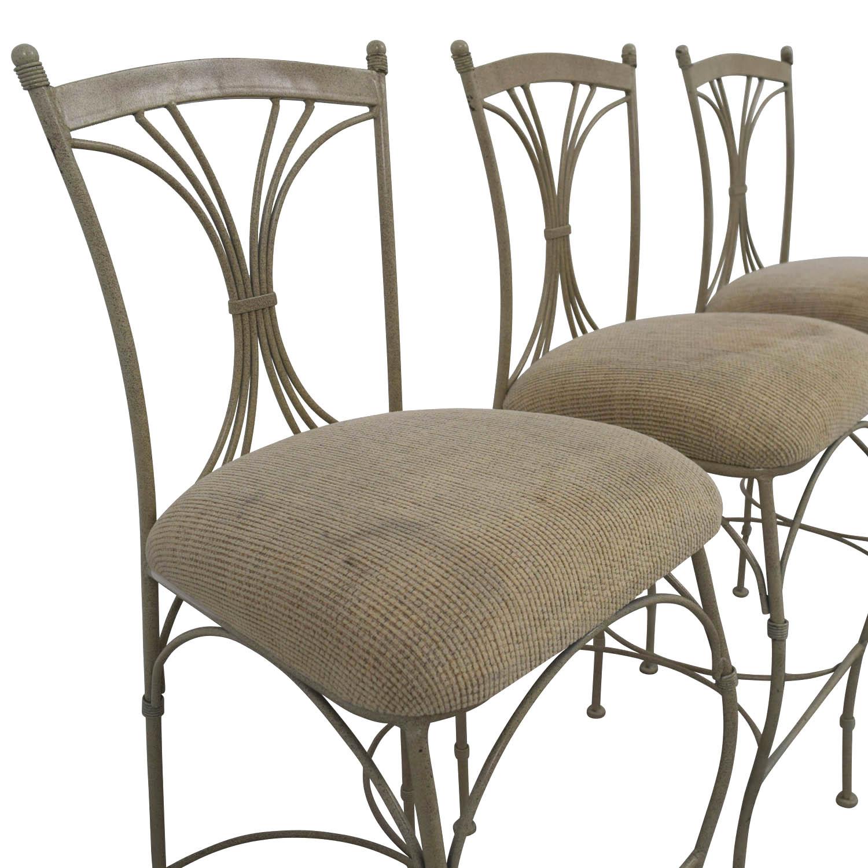 ... HomeGoods Tan U0026 Metal Bar Stools / Chairs ...