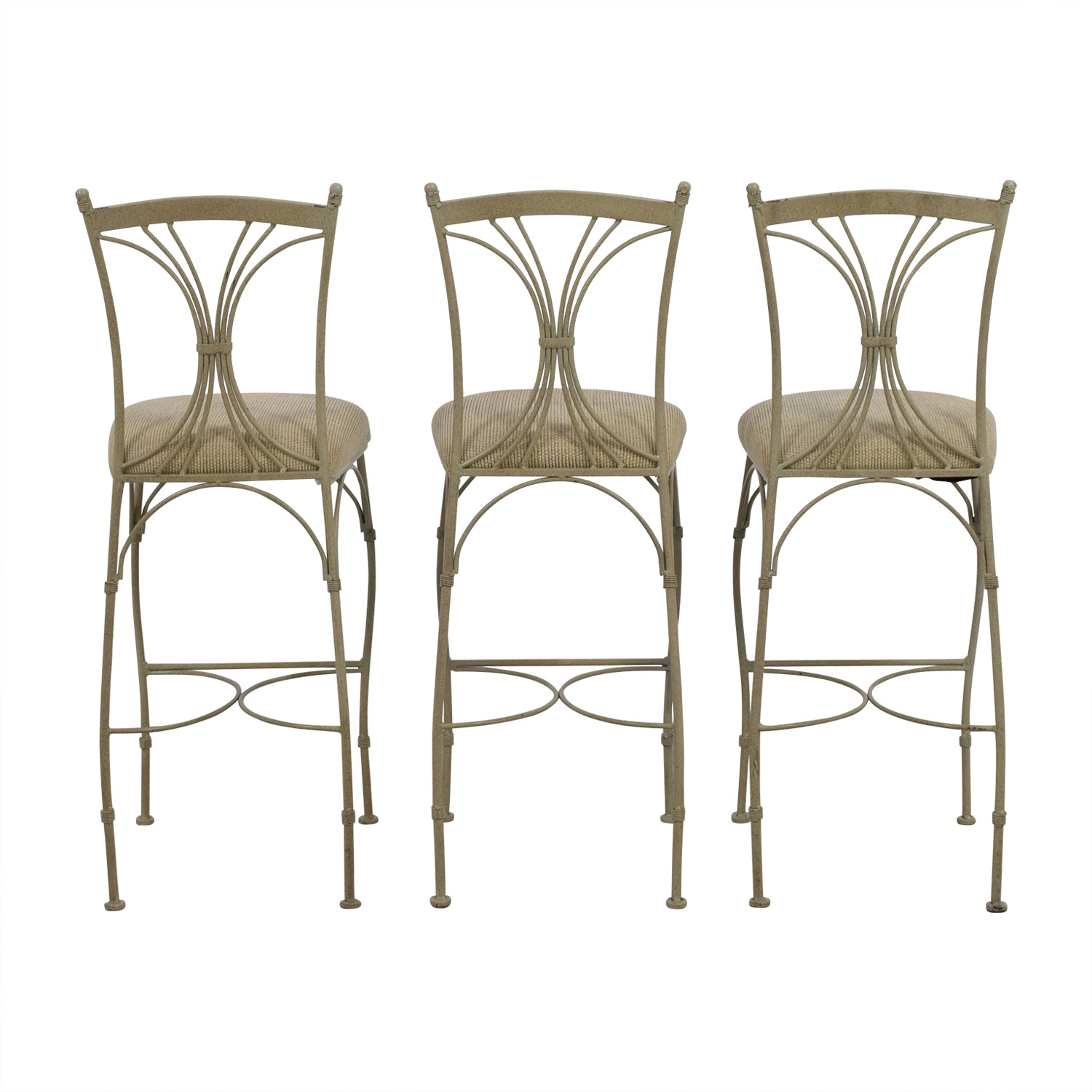 shop HomeGoods Tan & Metal Bar Stools HomeGoods Chairs