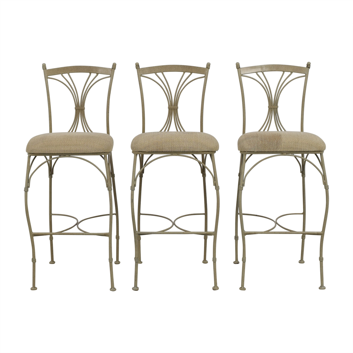 buy HomeGoods Tan & Metal Bar Stools HomeGoods