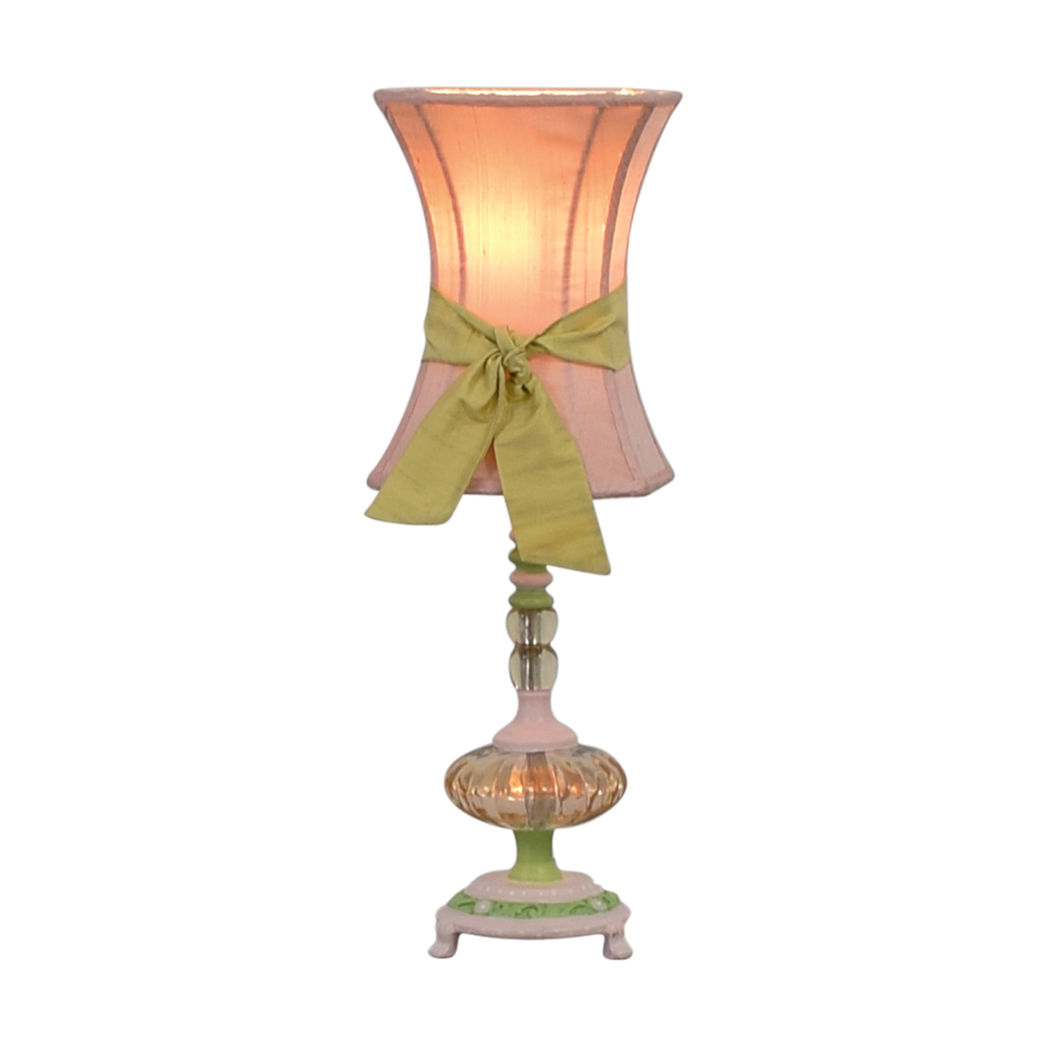shop Pink and Green Table Lamp