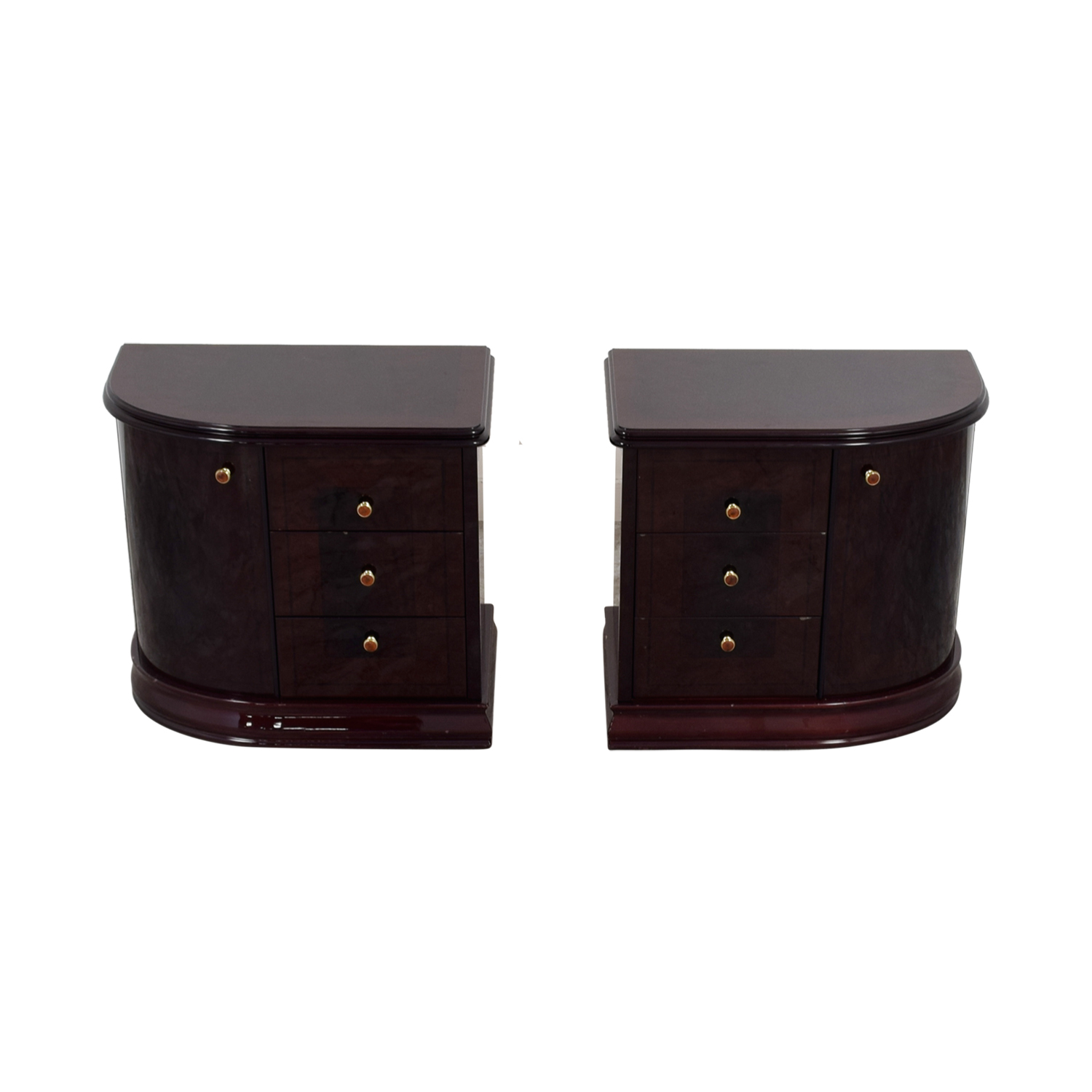 Curvo Camere Curvo Camere Brown Nightstands End Tables