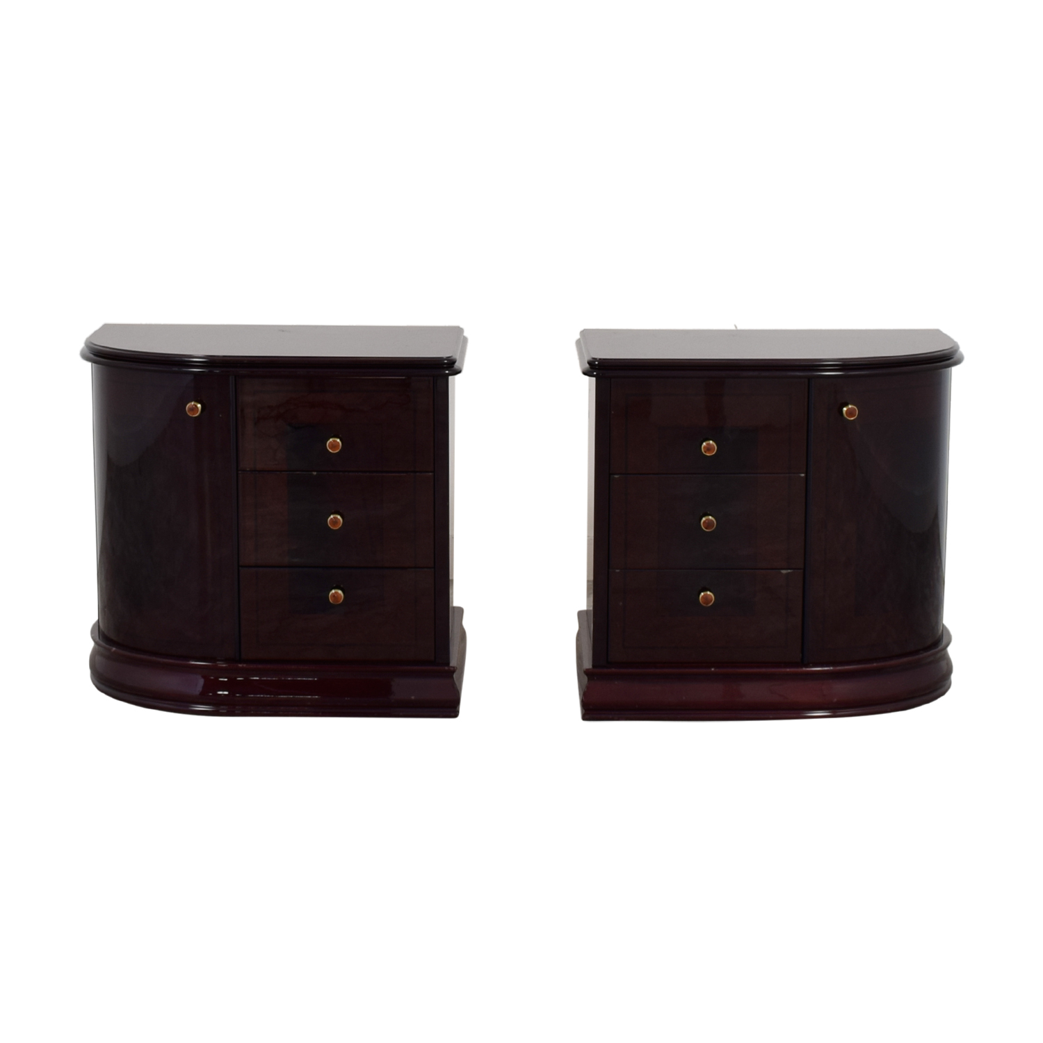 Curvo Camere Curvo Camere Brown Nightstands used