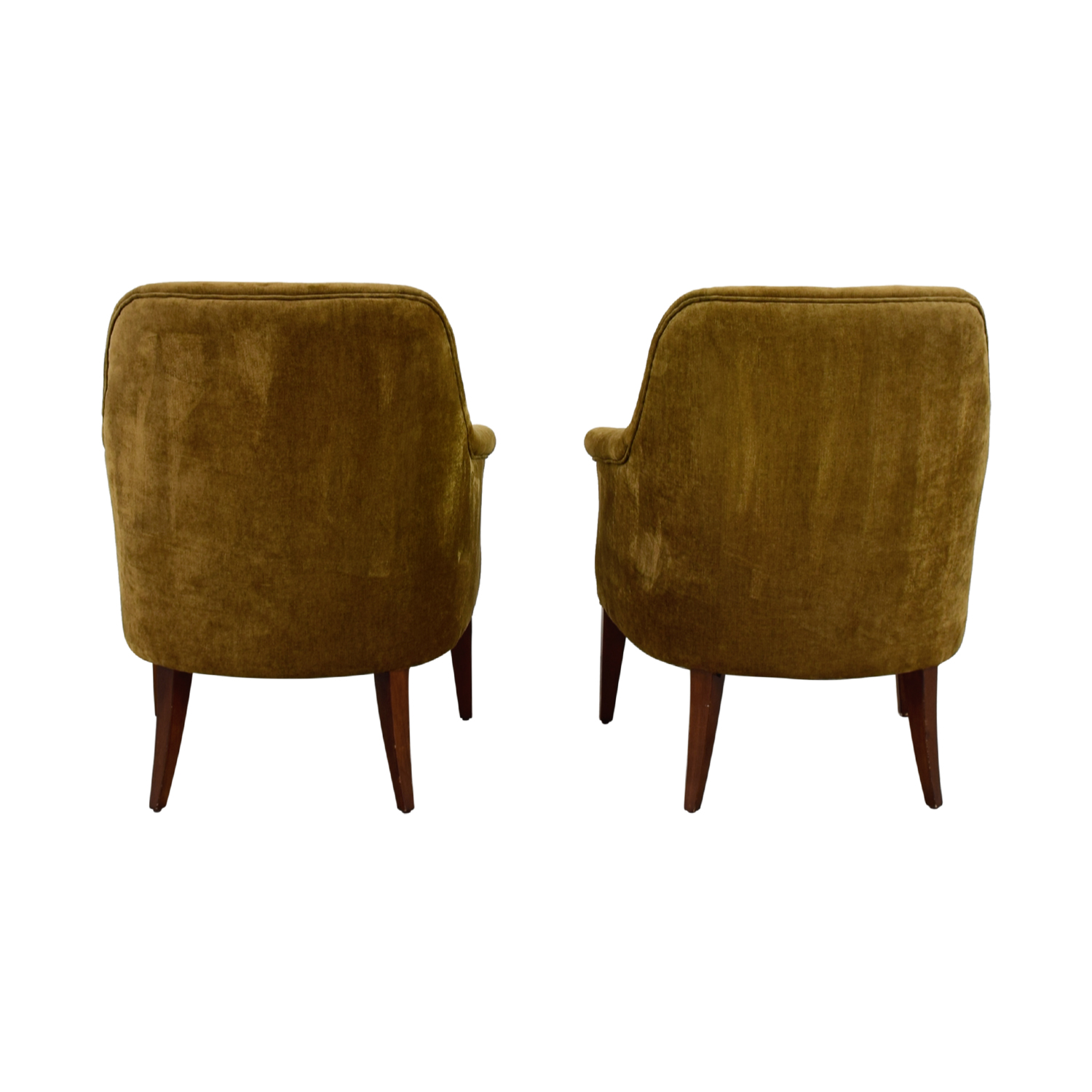 Pier 1 Imports Pier 1 Imports Brown Upholstered Accent Chairs