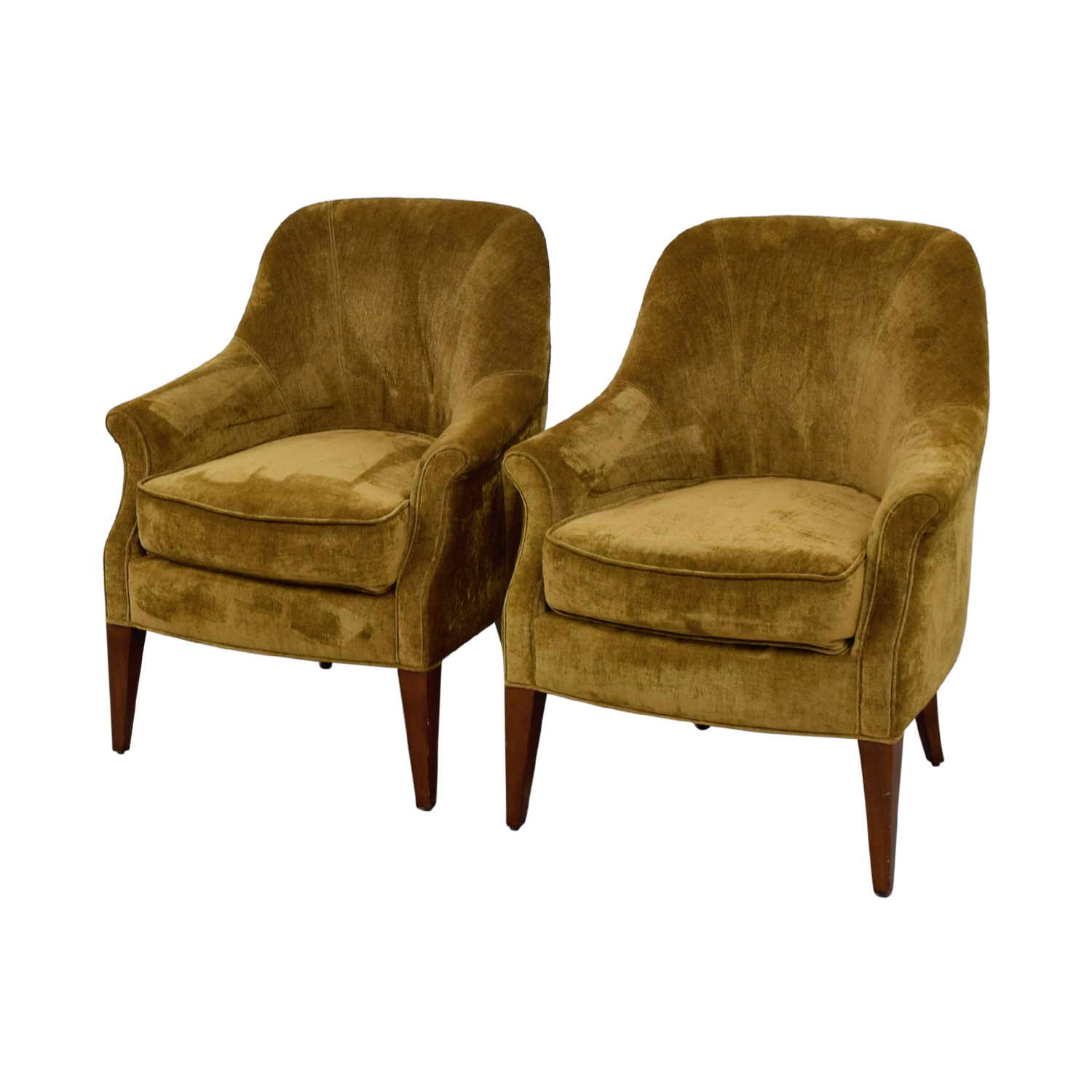Off Pier Imports Brown Upholstered Accent Chairs